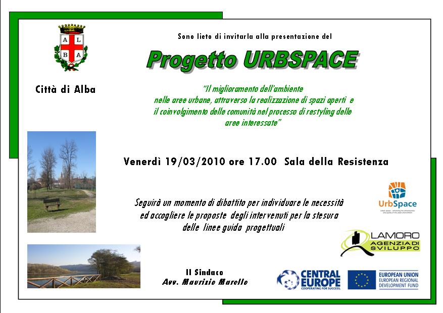UrbSpace Project Presentation in Alba